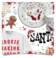 """""""Cookies for Santa"""" by juliehooper ❤ liked on Polyvore featuring art, polyvoreeditorial, Milkandcookies, cookiesforsanta and christmasdishes"""