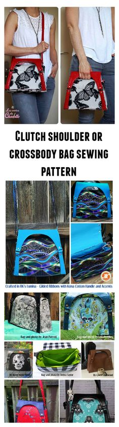 This pattern makes a wonderful modern bag with multiple uses. It's a part clutch, part shoulder bag but most of all is sure to become your favorite purse.