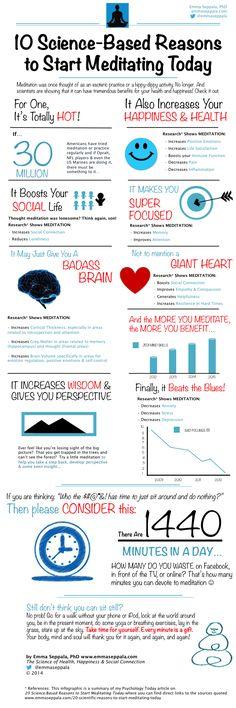 10 Science-Based Reasons To Start Meditating Today INFOGRAPHIC | 10 bewezen voordelen van mediteren