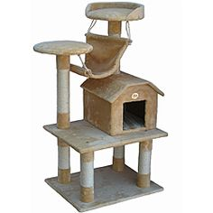 @Overstock.com - Make your pet happy with this cat's climbing furniture by Go Pet Club. Featuring a tree-like design, it's easy to assemble, and features a cat condo, a top pearch for sleeping, and is covered in sisal fabric for your cat's extra comfort. http://www.overstock.com/Pet-Supplies/Go-Pet-Club-Cat-Tree-Furniture/6384783/product.html?CID=214117 $89.99