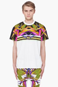 GIVENCHY //  BIRDS OF PARADISE COLUMBIAN FIT T-SHIRT