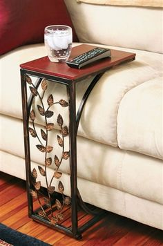 Leaf Scroll Side Sofa Tray Snack Table - Sofa Table - Ideas of Sofa Table - Leaf Scroll Side Sofa Tray Snack Table Price : Desk In Living Room, Living Room Furniture, Living Room Decor, Leaf Table, Table Tray, Book Table, Wooden Tops, Country Style Homes, Accent Furniture