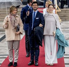 80th Birthday Celebrations of King Harald and Queen Sonja. Princess Märtha, Prince Carl Philip and Princess Sofia. 10-5-2017 in Oslo