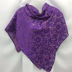 SALE Oversize Floral Purple silk square shawl, Gift for Teacher, Coworker gift, Purple scarf, Birthday Gift under 30, Mother Day gift,
