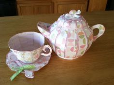 Kim's Tea Set is adorable!  I'm still in awe everytime I see a teapot and teacup from the TEA FOR YOU AND ME SVG KIT!