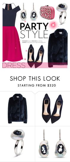 """""""Perfect Party Dress"""" by littlehjewelry ❤ liked on Polyvore featuring Reiss, Christian Dior, Inge Christopher, partydress, contestentry, pearljewelry and littlehjewelry"""