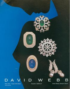 great jewelry by David Webb in this 1987 ad