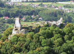 Château de Montfaucon, built by Richard I de Montfaucon, Mike's 28th great grandfather, about 1040.  Home of his descendents including Richard II de Monfaucon (d. 1162) and his wife Sofie de Montbéliard (d. 1148), Mike's 26th great grandparents.