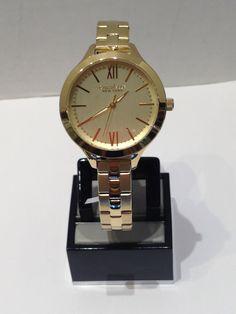 Ladies Caravelle New York yellow Gold Watch, Bracelet Watch, New York, Watches, Yellow, Lady, Accessories, Fashion, Moda