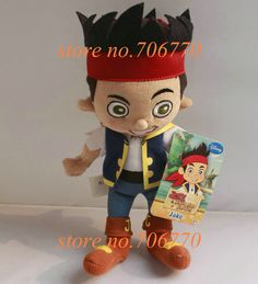 """IN HAND! NEW W/TAGS Jake The Neverland Pirates~ JAKE THE BOY~~7"""" ORIGINAL TV GAMES MOVIE BEST GIFT Plush dolls toy Stuffed-in Movies & TV from Toys & Hobbies on Aliexpress.com 