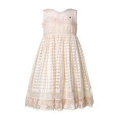 89848dc202d3 Péro - Abito Ecru Bambina E Bebé - Elegante e raffinato abito color ecru  lavorato in