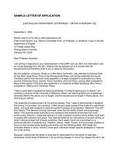 Lecturer Application Letter   Sample Of Application Letter For Assistant  Lecturer.