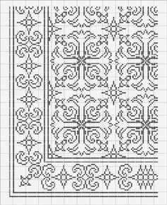Gallery.ru / Фото #2 - 3 - ergoxeiro Cross Stitch Borders, Cross Stitch Designs, Cross Stitching, Cross Stitch Patterns, Knitting Patterns, Crochet Patterns, Blackwork Embroidery, Cross Stitch Embroidery, Russian Cross Stitch