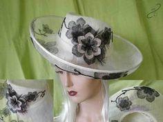Ivory-applique-Hat by JAIN KIDSLEY #millinery #hats #HatAcademy