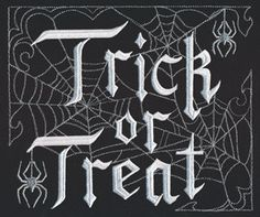 Trick or Treat Web design (UT14436) from UrbanThreads.com ~ July 30, 2016, All sizes, hand