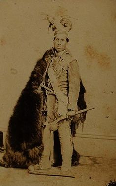 I feel like I should have a bearskin today (like an actual one not just my last name) #HaudenosauneeStyle --Mohawk man, c. 1870