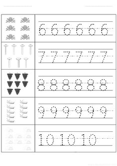 Sayı rakam çalışma sayfası ve yazma çalışmaları etkinlikleri oyunları, kağıdı indirme çıktı alıp yazdırma. Free numbers worksheets download and printable preschool kids. Grade R Worksheets, Nursery Worksheets, Preschool Number Worksheets, Preschool Writing, Numbers Preschool, Writing Worksheets, Worksheets For Kids, Kindergarten Worksheets, In Kindergarten
