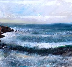 Kurt Jackson Porthmeor evening tide October 2012