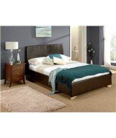 "Home comfort Como 4'6"" Double leather Bed is a perfect #furniture luxury to give a finishing touch to your #bedroom."