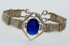 Simulated Sapphire Bracelet