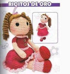 Ricitos de Oro, la protagonista Crochet Shawl, Crochet Doilies, Crochet Flowers, Diy Toys, Lana, Mandala, Crafts For Kids, Teddy Bear, Blanket