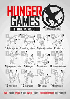 Work Outs Inspired By TV Shows & Movies (Hunger Games Workout)