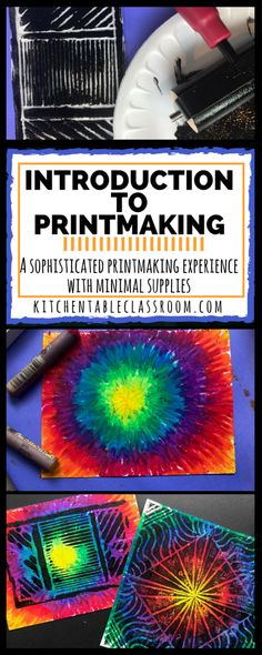 Printmaking for Kids An Introduction to a Sophisticated Process with Minimal Materials - The Kitchen Table Classroom
