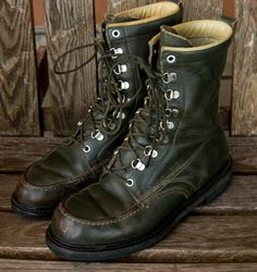 Vintage Green Work Boots