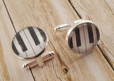 Piano keys for the musically minded. Check out our other cufflinks on Etsy!