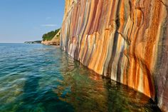 Mother nature putting the picture in Pictured Rocks - at Pictured Rocks National Lakeshore   http://www.lakesuperiorphoto.com/