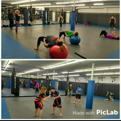 Last night's early classes, kids Adv on one side and our Women's fitness class on the other side. If you wanna get in shape for the summer come check out our Women's only fitness class. ‪ultimatemmact.com