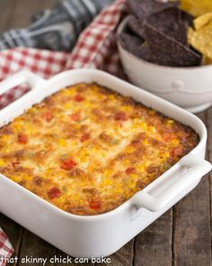 Fiesta Corn Dip - With a double dose of gooey cheese, you'll want to serve this magnificent dip at every gathering!