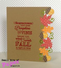 Small Bits of Paper: My Craft Spot Fall Release Party - Day 4