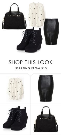 """bbb"" by eskucinska on Polyvore featuring Furla, women's clothing, women, female, woman, misses and juniors"