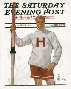 Leyendecker Goes to Harvard, 1907.