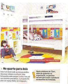 A revista Casa Linda de setembro publicou um ambiente que montamos na MMM, só com produtos da marca! Lindão, né? A cama é a beliche Teen: http://www.meumoveldemadeira.com.br/produto/beliche-teen-branco-laqueado