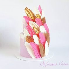 Brushstroke Cake - i like the style obviously color needs to be different!