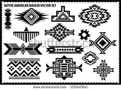 Native American Symbols Clip Art | Native American Stencil Designs Native american vector set