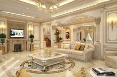 Requests for design Villas Chalets and Apartments residential hotels Communicate from inside Saudi Arabia and abroad asasdecor Mansion Interior, Interior Exterior, Classic Interior, Luxury Interior Design, Luxury Rooms, Luxury Living, French Style Homes, Luxury Homes Dream Houses, Palaces