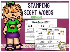 Sight Words Stamping (First Grade List)