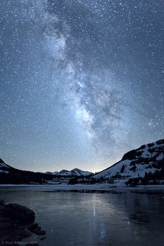 Milky Way Reflected in Tioga Lake
