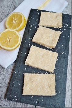 These no-bake protein bars combine the tangy flavor of lemon with the sweetness of coconut. They only take a few minutes to make before letting them refrigerate, so this is a great on-the-go snack when you need your protein fix!