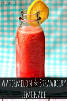 The MUST HAVE DRINK of the SUMMER -Watermelon and Strawberry Lemonade Drink Recipe - cool and refreshing and DONE in under 1 minute #recipe #drink #strawberry #watermelon #lemonade #glutenfree #dairyfree #easydrink #easyrecipe #budgetsavvydiva via budgetsavvydiva.com