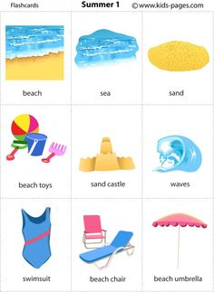 Free printable summer flashcards