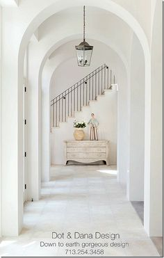 Antique Shops and DEsigners Magazine. Pamela Pierce. Lovely arches/Staircase