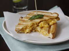 Grilled Mac 'n Cheese: An Amazing Idea!  Add a little pizzazz to macaroni and cheese by using it as a sandwich filling. Everyone will love it!
