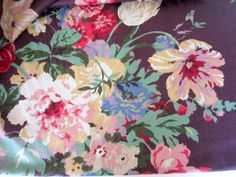 Designer Floral Fabric Kaufmann Cotton 5.75 by nanascottagehouse, $45.00