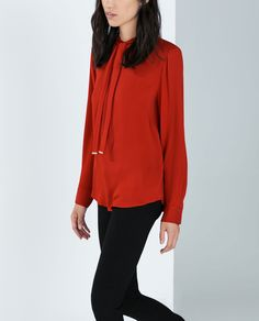Image 3 of BOWED BLOUSE from Zara