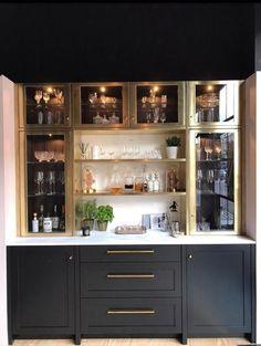 Amazing Modern Home Bar Home Bar Rooms, Home Bar Decor, Home Bar Areas, Home Wet Bar, Bars For Home, Küchen Design, House Design, Bar Sala, Living Room Bar
