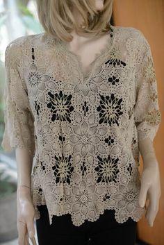 Irish Crochet, Knit Crochet, Crochet Stitches, Crochet Patterns, Irish Lace, Crochet Cardigan, Vintage Crochet, Knitting, Vanessa Montoro